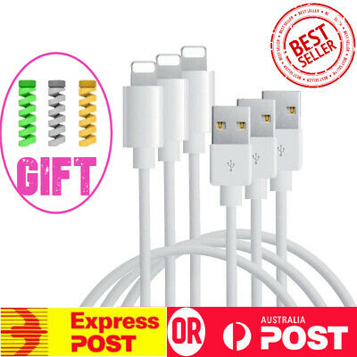 AU9.99 • Buy 3X Fast USB Cable Cord Charger For Genuine Apple IPhone 6 7 8 11 12 Plus IPad 1M