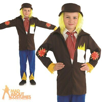 Childs Scarecrow Boys Costume Wizard Of Oz Book Day Kids Fancy Dress Outfit • 9.99£