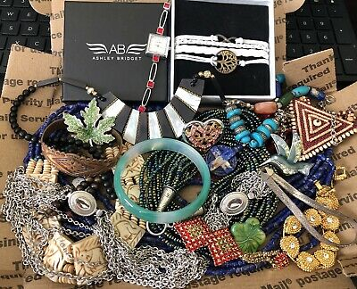 $ CDN7.90 • Buy Vintage To Modern, Lot Of + 1.5 Pounds, Sterling And More, Wearable Jewelry, Or