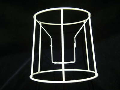 Tapered Round Drum Lampshade Frame  11  X 12  X 8.5  Height • 8.50£
