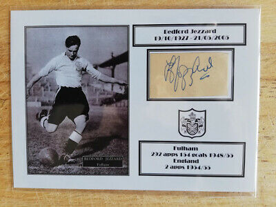 Bedford Jezzard Fulham Legend Hand-signed Card • 11.95£