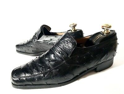 $ CDN533.18 • Buy $3000 Artioli Black Ostrich Leather Shoes Size 43, UK-9, US-10