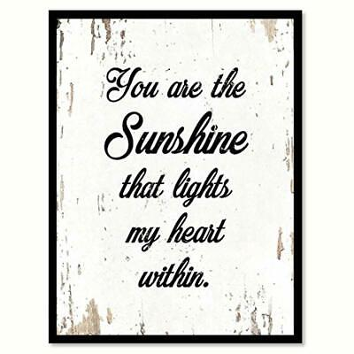 SpotColorArt You Are The Sunshine That Lights My Heart Within Handcrafted Canvas • 23.48£