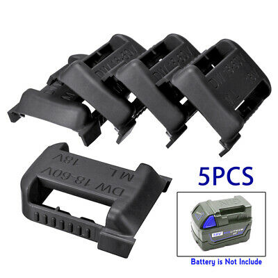 AU19.65 • Buy 5pcs Black 18V M18 Battery Mounts Storage Holder Rack Slots For MILWAUKEE AU