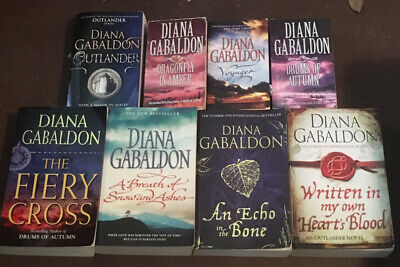 AU10 • Buy OUTLANDER - The Fiery Cross, Diana Gabaldon, Scotland, Romance Large Pb Book
