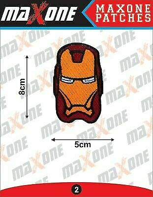 £2.10 • Buy IRON MAN AVENGERS MARVEL Embroidered Iron On / Sew On Patch Badge 8cm X 5cm