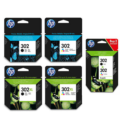Genuine HP 302 / XL Black Colour High Capacity Ink Cartridges For Envy 4522 • 27.95£