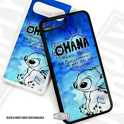 Printed Rubber Clip Phone Case Cover For IPhone - Ohana-Blue-Splat • 6.95£