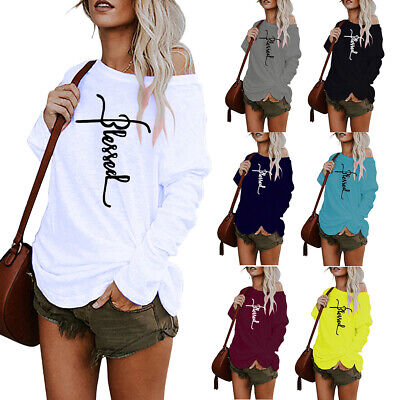 Ladies Round Neck Long Sleeve Blouse T- Shirt Women Loose Casual Pullover Tops • 12.06£