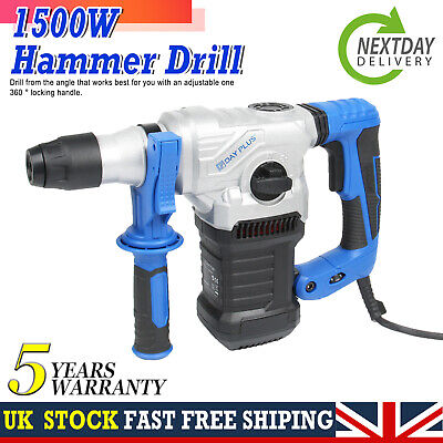 £64.40 • Buy NEW 1500W Impact Electric Hammer Concrete Breaker Electric Drill Industrial Tool