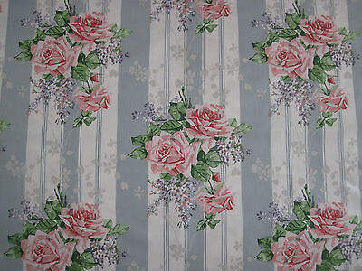 £62.99 • Buy SANDERSON CURTAIN FABRIC  Cecile Rose  2 METRES DUCK EGG/ROSE VINTAGE 2 COLL