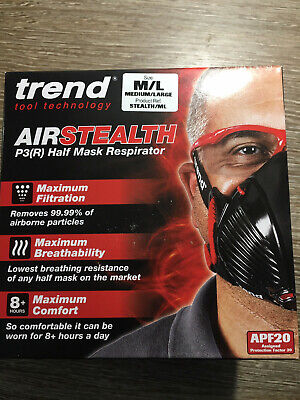 Trend Air Stealth Half Mask M/L P3 NEW • 22£