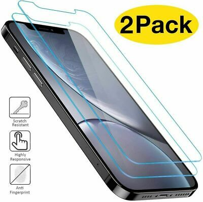 Tempered Glass Screen Protector For IPhone 11 Pro Max XR XS Max 6s 7 8 Plus SE 2 • 1.59£