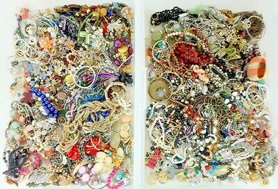 $ CDN1.96 • Buy Unsearched 2+ Pounds Vintage Now Jewelry Junk Craft Lot Parts Necklace Brooch