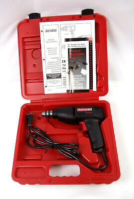 """View Details Craftsman 3/8"""" Reversible Corded Electric Drill Keyed Chuck 3.0 A With Case USA • 45.00$"""