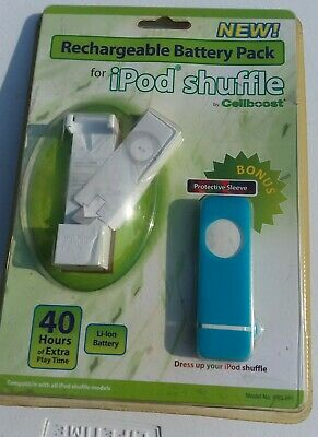 £4.50 • Buy RECHARGEABLE BATTERY PACK WITH PROTECTIVE SLEEVE IPOD SHUFFLE By CELLBOOST NEW!