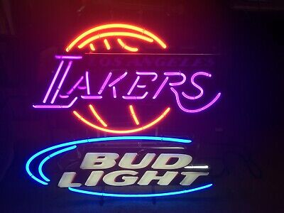 $ CDN536.21 • Buy Bud Light Los Angeles Lakers Neon Sign ( Double Transformer) Mancave Rare Bar