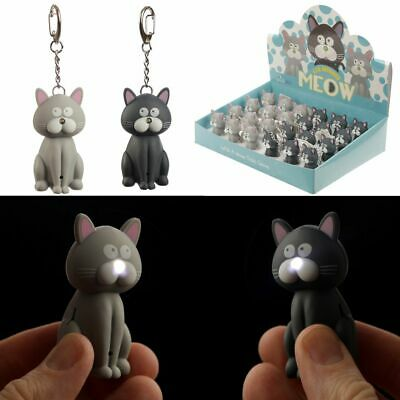 £4.69 • Buy Cat LED Keyring With Meowing Sound Animal Pet Lovers Gift Keychain Assorted