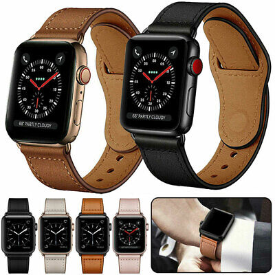$ CDN8.67 • Buy Genuine Leather Strap Band For Apple Watch SE 6 5 4 3 2  1 IWatch 38/42/40/44mm