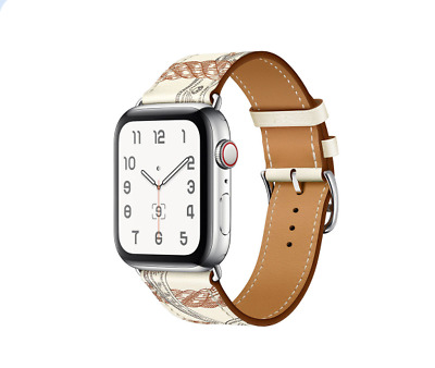 AU18.99 • Buy White Leather Watch Band Starp For Apple Watch Series 6 40mm 44mm / Watch SE