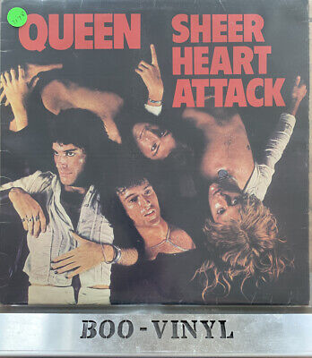 QUEEN - SHEER HEART ATTACK LP VINYL Original 1974 Album Early UK Press 5U/3U EX • 29.99£
