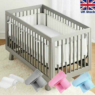 £16.39 • Buy Cot Baby Liner Mesh Breathable Bumper Sided Crib Airflow Cotbed Bed Nursery Wrap