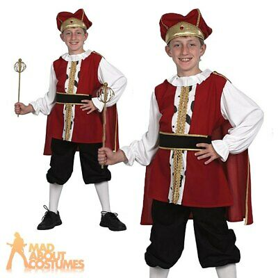 £11.99 • Buy Childs Medieval King Henry VIII Costume Boys Book Day Kids Fancy Dress Outfit