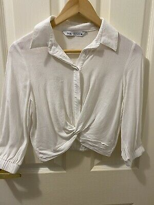 AU10 • Buy Zara Crop White Shirt Size Small