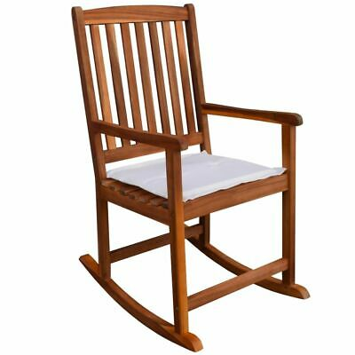 AU167.95 • Buy Wooden Rocking Chair With Cushion Garden Balcony Lounge Seat Patio Furniture