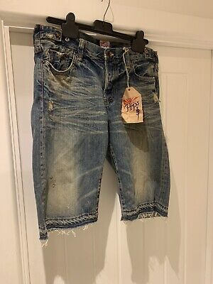 """PRPS """"Sample Sale"""" Jeans Shorts Size 28"""" Brand New £240 RRP • 34.99£"""