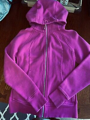 $ CDN30 • Buy EUC Lululemon Scuba Zip Hoodie ❤️Size 6❤️ Pink Magenta- Light Cotton Fleece