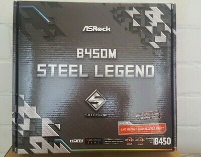 AU150 • Buy ASRock B450M AMD AM4 Steel Legend MATX Gaming Motherboard CrossfireX DDR4 M.2