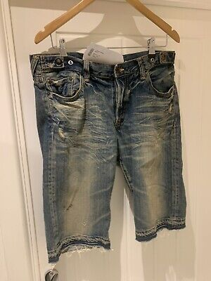 """Prps """"Sample Sale"""" Distressed Jeans Shorts Size 30"""" Brand New With Tags £500 RRP • 59.99£"""
