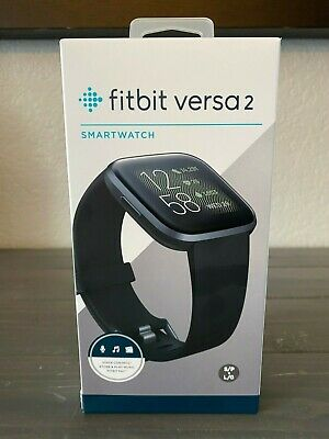 $ CDN183.34 • Buy Brand New Fitbit Versa 2 Smart Watch - Black/Carbon Aluminum