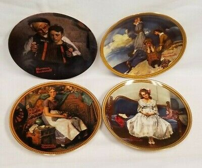 $ CDN32.43 • Buy NORMAN ROCKWELL Lot Of 4 Knowles Plates Rediscovered Women & Heritage Collection