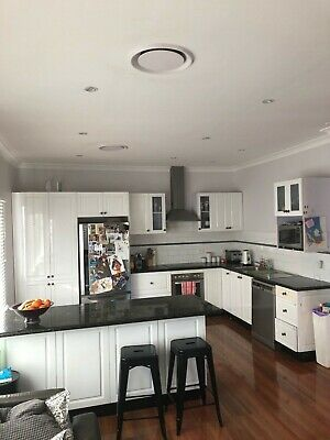 AU1500 • Buy Second Hand Kitchen With Granite Bench Tops, Including Island Bench .