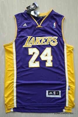 AU39.95 • Buy SIZE Large- Kobe Bryant #24 Los Angeles Lakers Purple Yellow NBA Jersey