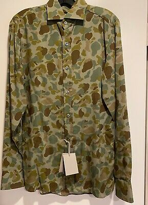 $159 • Buy NWT Tom Ford Mens Green Camouflage Camo Sport Shirt Size E(38) US(15) MSRP 930