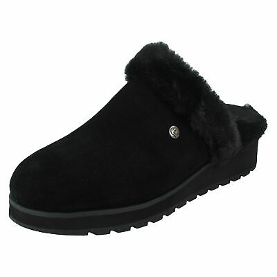 Ladies Bobs From Skechers Casual Memory Foam Slippers Snow Magic • 39£