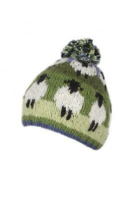 Sustainable Fair Trade Flock Of Sheep Natural Wool Bobble Beanie Hat  • 18.95£