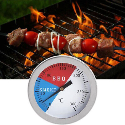 Barbecue Smoker Grill Thermometer Temperature Gauge 300℃ 304  Stainless Steel • 4.75£