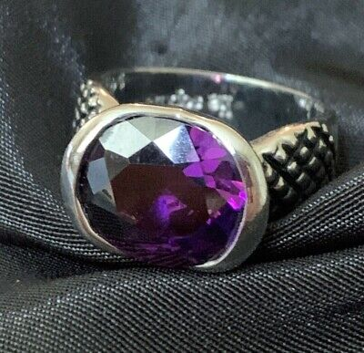 $ CDN21.33 • Buy Lia Sophia Purple Crystal Ring Statement Cocktail Ring Sz 9 Silver Tone