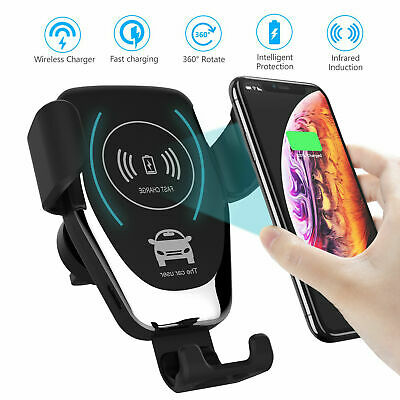 AU13.99 • Buy Qi Wireless Charger Car Phone Mount Holder Bracket For IPhone 8 X XS XR 11 Pro