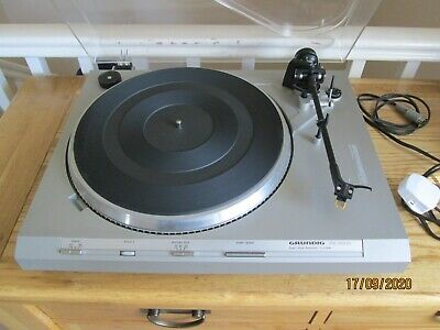 Grundig PS-3500 Direct Drive Turntable With Audio Technica Cartridge • 7.50£