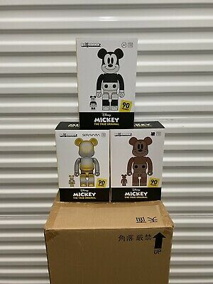 $4000 • Buy Mickey Mouse - Fragment/Sorayama/UNDFTD (3-Piece Set) 400% Be@rbrick Bearbrick