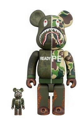 $1500 • Buy Bape X Readymade 400% + 100% Be@rbrick Bearbrick