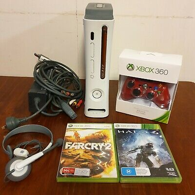 AU144.99 • Buy Xbox 360 Console Bundle! 60GB Console + NEW Controller, 2 Games, Headset & Cords