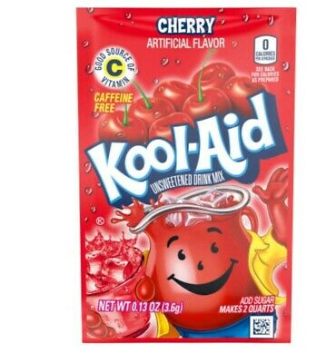 Kool-Aid Drink Mix 🍒 Cherry 8 Packets New !!!!!!!!!!!!!!!!!!!!!!!!!!!!!!!!!! • 4.59£