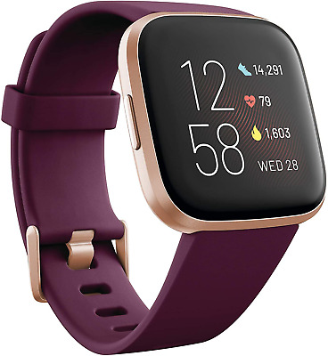 $ CDN346.58 • Buy Fitbit Versa 2 Health And Fitness Smartwatch With Heart Rate, Music, Alexa Built