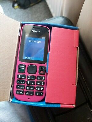 Nokia 100 - Classic  Mobile Phone Excellent Condition Sim Free Pink • 14.99£